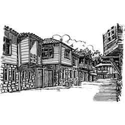 Пловдив — город, картинка чёрно-белая