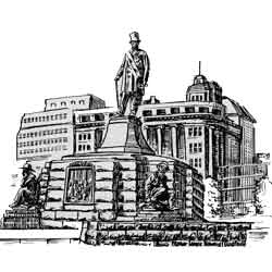 Претория — город, картинка чёрно-белая