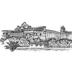 Рабат — город, картинка чёрно-белая
