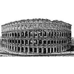 Рим — город, картинка чёрно-белая