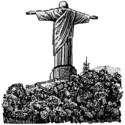 Рио-де-Жанейро — город, картинка чёрно-белая