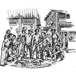 Силаос — город, картинка чёрно-белая