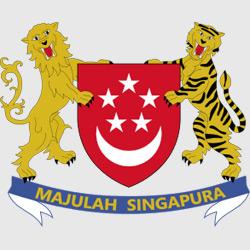 Сингапур — герб города, картинка цветная