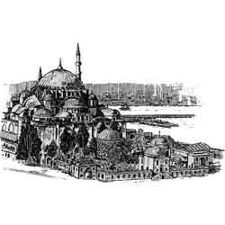 Стамбул — город, картинка чёрно-белая