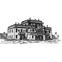 Улан-Батор — город, картинка чёрно-белая
