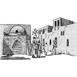 Ваджир — город, картинка чёрно-белая