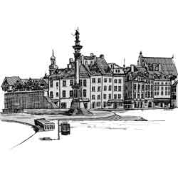 Варшава — город, картинка чёрно-белая