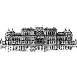 Вена — город, картинка чёрно-белая