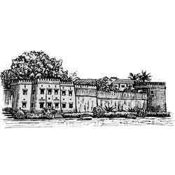 Занзибар — город, картинка чёрно-белая