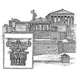 Акрополь — познавательно, картинка чёрно-белая