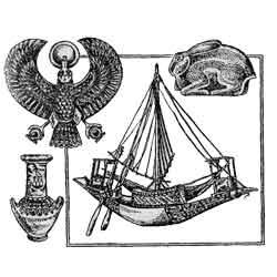 Древние Египтяне — познавательно, картинка чёрно-белая
