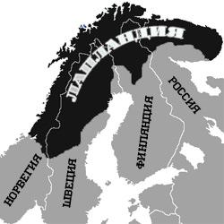 Лапландия — познавательно, картинка чёрно-белая