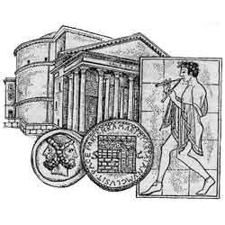 Пантеон — познавательно, картинка чёрно-белая