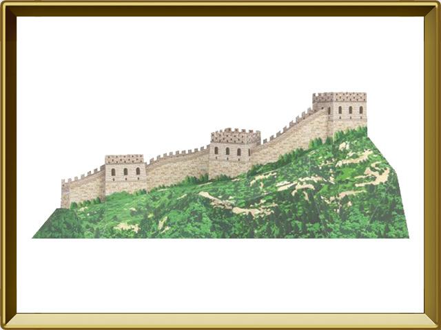 Великая Китайская Стена — познавательно, фото в рамке №1