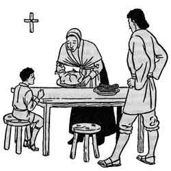 День Благодарения — праздник, картинка чёрно-белая