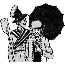 Форшунг — праздник, картинка чёрно-белая