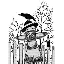 Кирмес — праздник, картинка чёрно-белая