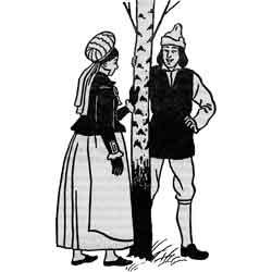Мидсоммар — праздник, картинка чёрно-белая