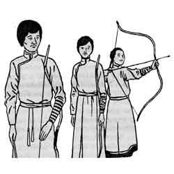 Надом — праздник, картинка чёрно-белая