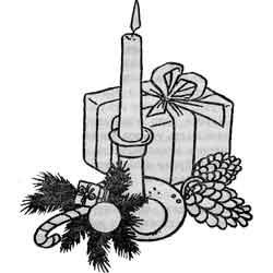 Новый год — праздник, картинка чёрно-белая