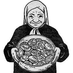 Пасха — праздник, картинка чёрно-белая