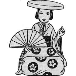 Праздник девочек — праздник, картинка чёрно-белая