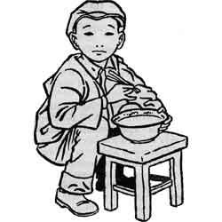 Праздник холодной пищи — праздник, картинка чёрно-белая