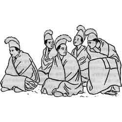 Праздник победы над девятью несчастиями — праздник, картинка чёрно-белая