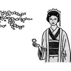 Праздник сакуры — праздник, картинка чёрно-белая
