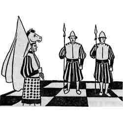 Праздник шахмат — праздник, картинка чёрно-белая