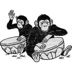 Праздник шимпанзе — праздник, картинка чёрно-белая