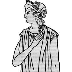 Праздник святой Агнессии — праздник, картинка чёрно-белая