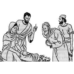 Рождество Христово — праздник, картинка чёрно-белая