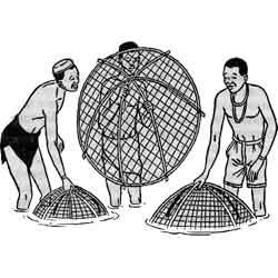 Рыбацкий фестиваль — праздник, картинка чёрно-белая