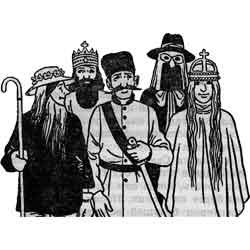 Святки — праздник, картинка чёрно-белая