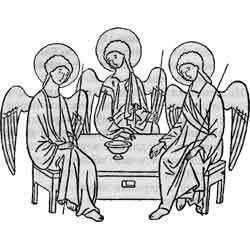 Троица — праздник, картинка чёрно-белая