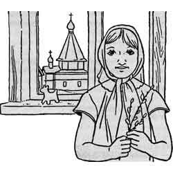 Вербное воскресенье — праздник, картинка чёрно-белая