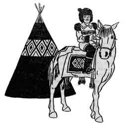 Ыснах — праздник, картинка чёрно-белая