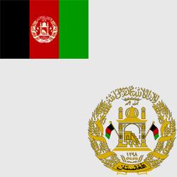 Афганистан — флаг и герб страны, картинка цветная