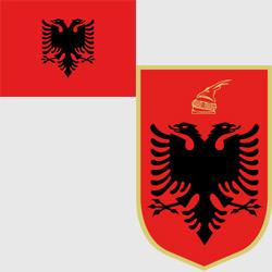 Албания — флаг и герб страны, картинка цветная
