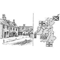 Англия — страна, картинка чёрно-белая