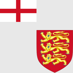 Англия — флаг и герб страны, картинка цветная