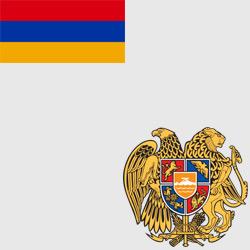 Армения — флаг и герб страны, картинка цветная