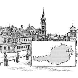 Австрия — страна, картинка чёрно-белая