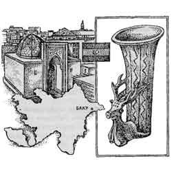 Азербайджан — страна, картинка чёрно-белая