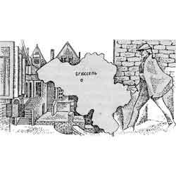 Бельгия — страна, картинка чёрно-белая