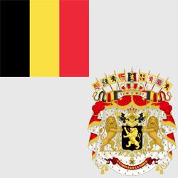 Бельгия — флаг и герб страны, картинка цветная