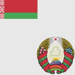Белоруссия — флаг и герб страны, картинка цветная