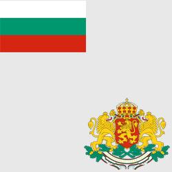 Болгария — флаг и герб страны, картинка цветная