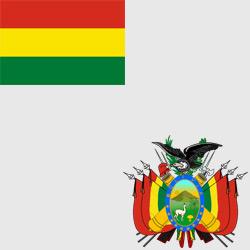 Боливия — флаг и герб страны, картинка цветная